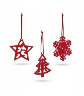 DARIO. Conjunto de 3 decorações de Natal