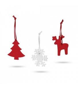 ZERMATT. Conjunto de 3 decorações de Natal