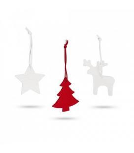 ZURS. Conjunto de 3 decorações de Natal