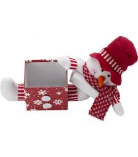 Caixa com decoração de Natal.