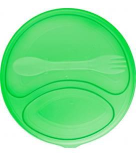 Lancheira redonda em plástico