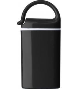 Lanterna de plástico com 2 luzes LED, com mosquetão