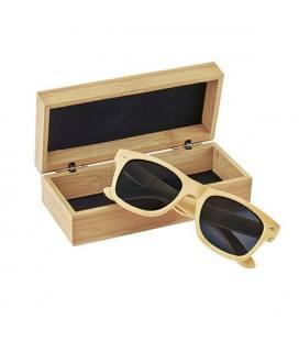 Óculos de sol em bamboo, lentes polarizadas e proteção UV400