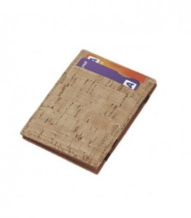 Carteira porta-cartões em cortiça