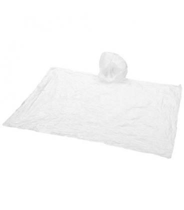 Poncho de chuva descartável com capuz e bolso