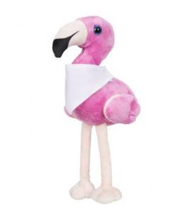 """Flamingo de pelúcia com bandana personalizável com a marca """"Flamo"""""""