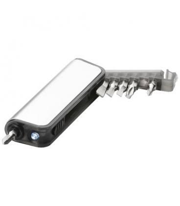 """Mini caixa de ferramentas com lanterna de 7 funções """"Reno"""""""