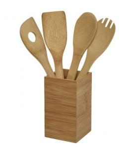 """Conjunto de 4 utensílios de cozinha com suporte """"Baylow"""""""
