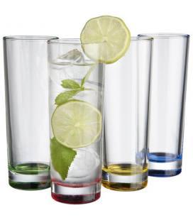 """Conjunto de 4 copos de vidro """"Rocco"""""""