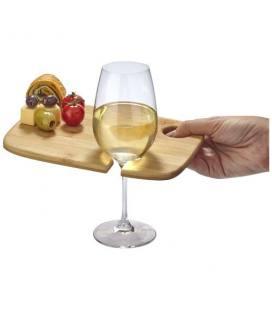 """Tábua para aperitivos com suporte para copo de vinho de madeira """"Mill"""""""