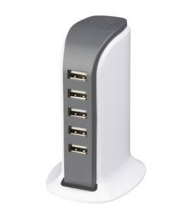"""Adaptador CA de secretária com 5 portas USB """"Tower"""""""