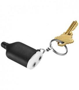 """Splitter de música com porta-chaves e caneta stylus 2 em 1 """"Jack"""""""