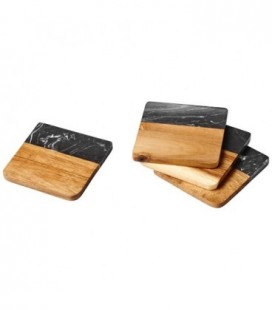 """Bases para copos em madeira e mármore """"Harlow"""""""