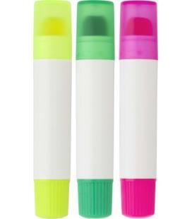 Conjunto de marcadores fluorescentes de cera ABS