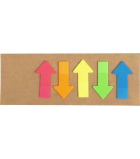 Marcador de cartão com notas adesivas