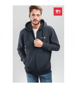 THC AMSTERDAM. Sweatshirt para homem, com fecho e capuz
