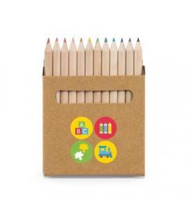 COLOURED. Caixa com 12 lápis de cor