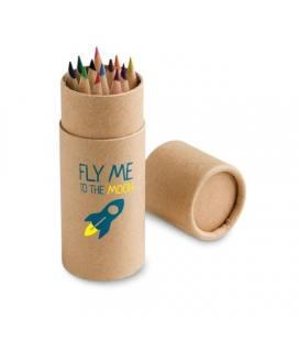 CYLINDER. Caixa com 12 lápis de cor