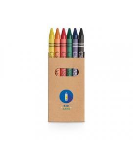 EAGLE. Caixa com 6 lápis de cera