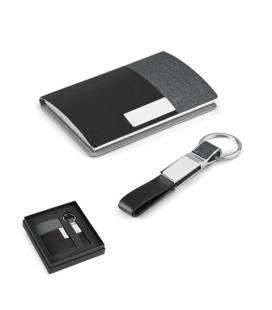 TRAVOLTA. Conjunto porta-cartões e porta-chaves