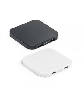 CAROLINE. Carregador wireless e hub USB 20