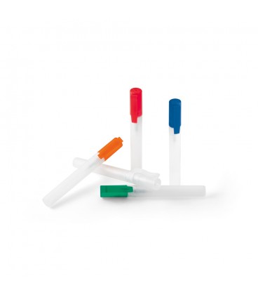 SPRAY HIGIENIZANTE DE MÃOSHigienizante de mãos em spray com tampa e capacidade até 10 ml. Spray recarregável. ø15 x 140 mm