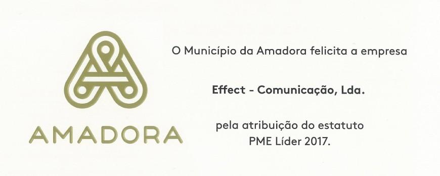 Effect distinguida pela Câmara Municipal da Amadora como empresa Líder do Município